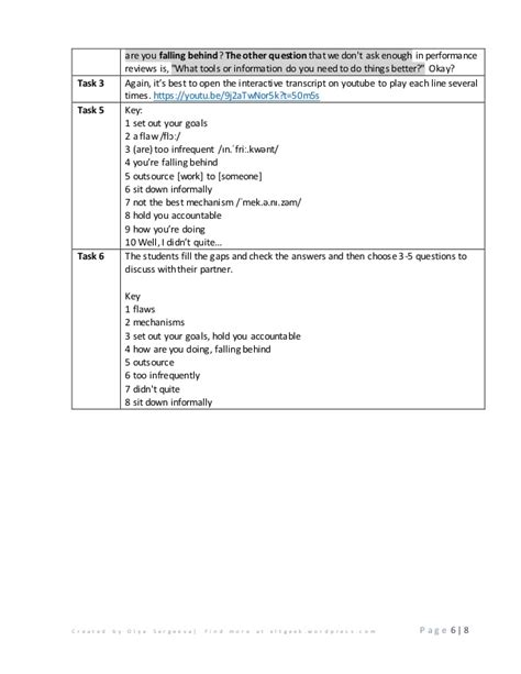 Performance Review Worksheet by Performance Review Worksheet