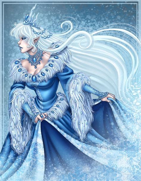 the snow queen a snow queen by harpyqueen on