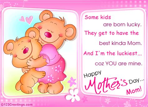cute mothers day cards a cute teddy bear wish free happy mother s day ecards
