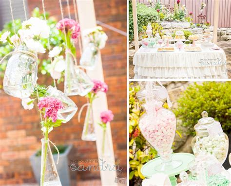 bridal wedding tea party garden vintage shabby chic