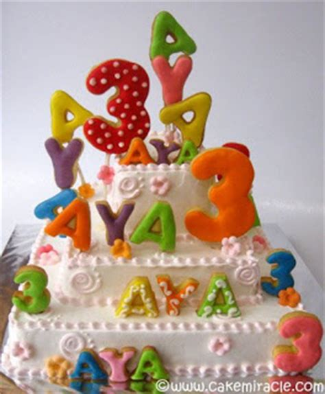 Cookies Nama Kukis Alphabet Kue Huruf cake miracle by peni respati happy birthday aya