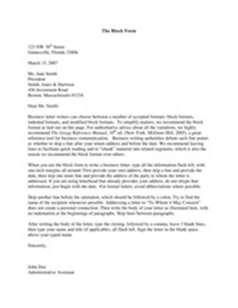 Business Letter Length Business Letter Format Depending On The Length Of The Letter The Letter