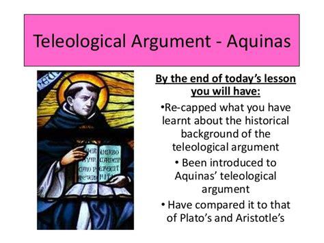 design qua regularity lesson 3 teleological argument aquinas