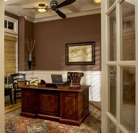Office Wainscoting Ideas by High Ceilings And White Wainscoting Balance A Wall