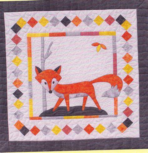 fox in a box pieced applique quilt pattern