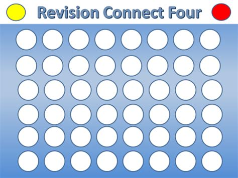 revision interactive connect four template by j leemosley