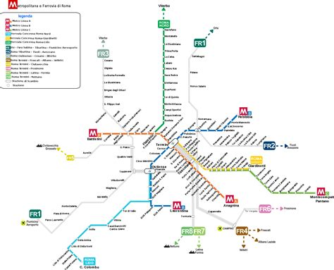 rome metro map map of rome transport rome subway map rome metro map
