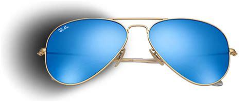 Kacamata Rayban Aviator Flash Biru Transparant xo d