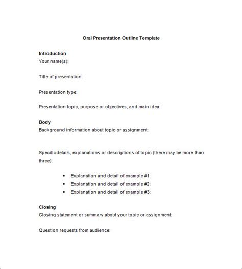 powerpoint presentation outline template 7 presentation outline templates free ppt word pdf