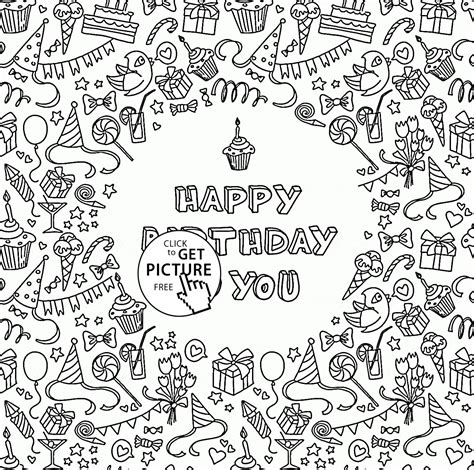 coloring pages for you happy birthday to you greeting card coloring page for kids
