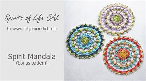 mandala pattern youtube spirits of life cal crochet mandala wall hanging bonus