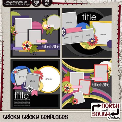 digital scrapbooking templates tricky tricky digital scrapbooking templates
