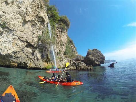 Playa de Maro am Mittelmeer - Kayaktour durch Wasserfälle