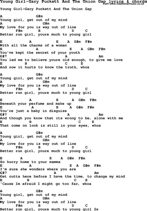 love songs girl love song lyrics for young girl gary puckett and the union