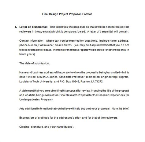 design project proposal guidelines design proposal templates 18 free sle exle