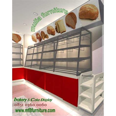 Rak Roti Stainless jual showcase etalase donut roti kue snack makanan