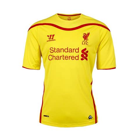 Jersey Liverpool Away 1415 new liverpool away kit 14 15 warrior yellow liverpool jersey 2014 2015 football kit news new