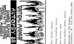 Or A Critical Madness Autopsy Usa Critical Madness Demo Spirit Of Metal Webzine Fr