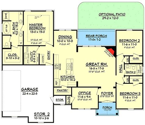 master up floor plans split bedroom house plan with open floor plan 11797hz