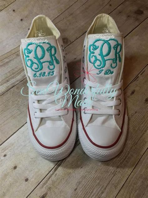 wedding day shoes monogrammed wedge converse high tops wedge converse