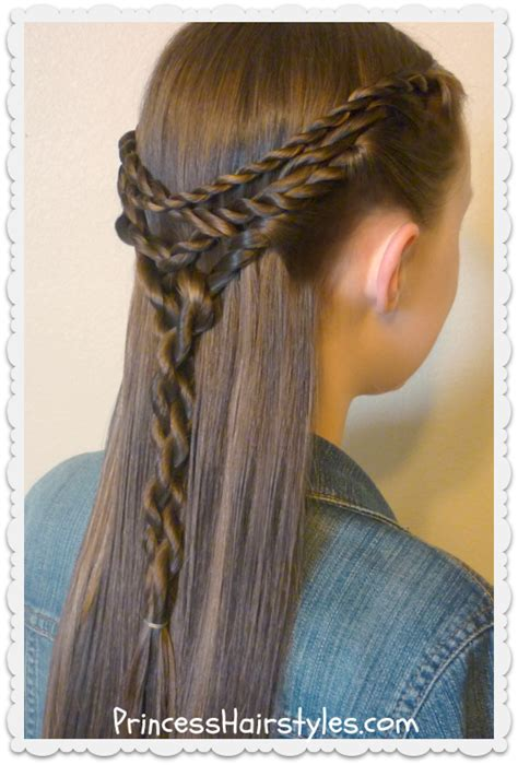 Tie Back Hairstyles | tangled twists tie back hairstyle hairstyles for girls