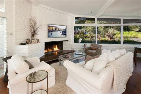 cozy white living room photo page hgtv