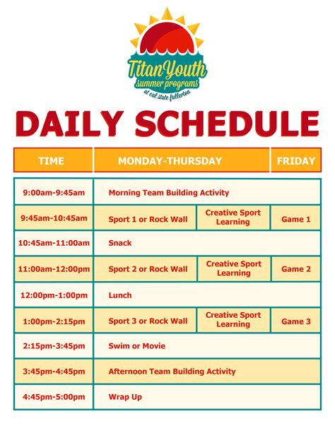 daily activity schedule chart pictures to pin on pinterest