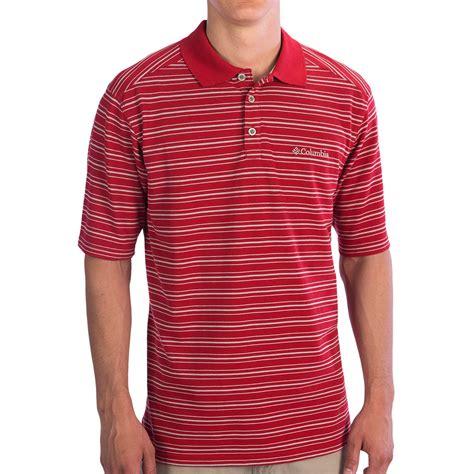 Columbia Stripe Poloshirt columbia sportswear haw creek stripe polo shirt upf 15 sleeve for