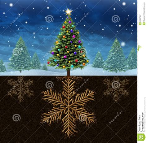 christmas roots royalty free stock photography image