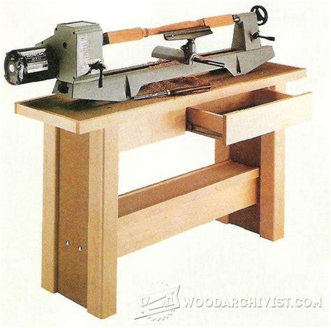 lathe stand plans woodarchivist