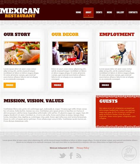 mexican restaurant a html template for any mexican