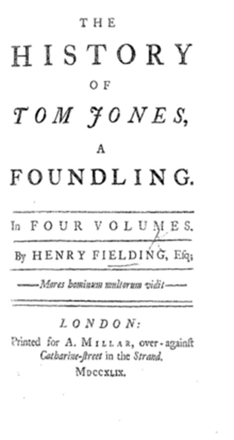 the history of tom the history of tom a foundling wikipedia
