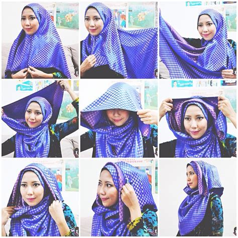 tutorial hijab segi 4 formal 25 aneka kreasi tutorial hijab segi empat simple 2017