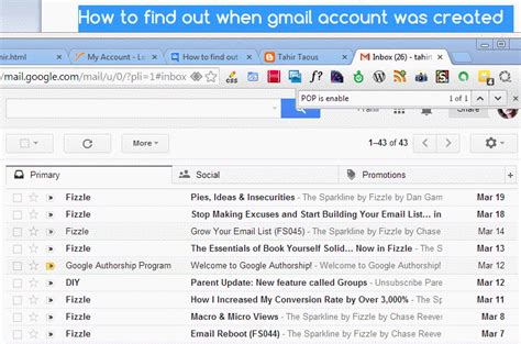 Gmail Account Search By Email How To Find Out When My Gmail Account Was Created Tahir
