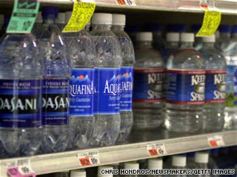 Shelf Of Bottled Water by Is Your Bottled Water Safe Cnn