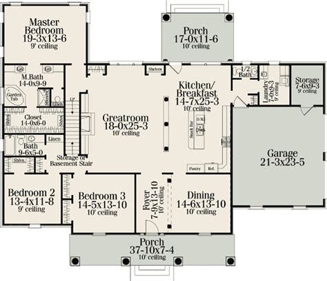 american home floor plans classic american home plan 62100v 1st floor master