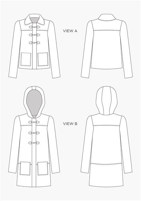 sewing pattern grainline grainline studio 16001 cascade duffel coat