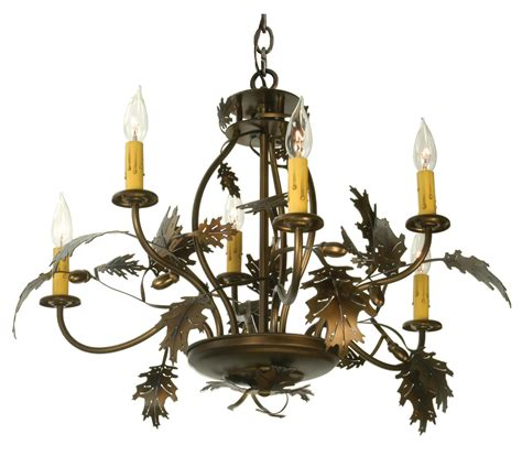 Acorn Chandelier Meyda 81244 Oak Leaf Acorn Six Light Chandelier