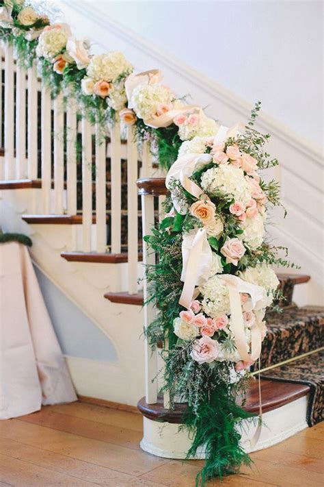 Christmas Decorations For Banisters Best 25 Wedding Staircase Decoration Ideas On Pinterest