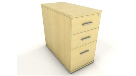 Shallow Drawer Unit by Maple Acm Dh8 400mm Wide X 800mm Desk High Drawer