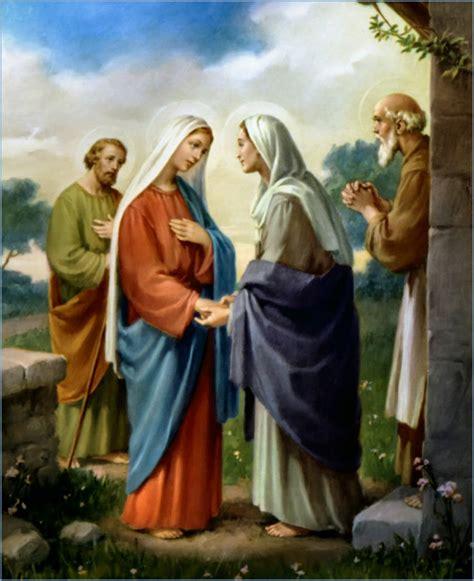 imagen de la virgen maria visitando a su prima isabel visitaci 243 n de la virgen mar 237 a a su prima isabel el pan