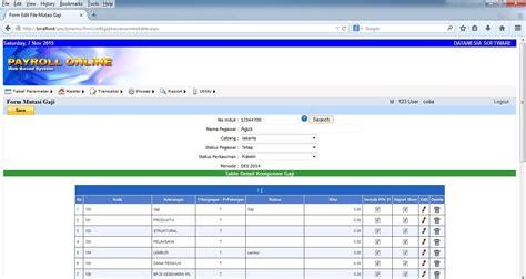 slip gaji excel satu lembar beberapa slip sekaligus software payroll indonesia payroll web based absensi