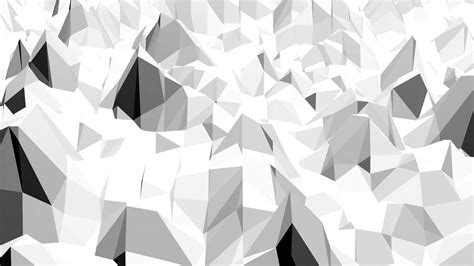 White Low Poly abstract black and white low poly waving 3d surface as