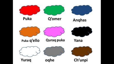 imagenes de la familia en quechua colores en quechua youtube