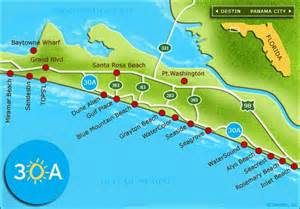 map of 30a florida not just a pretty 30a where i