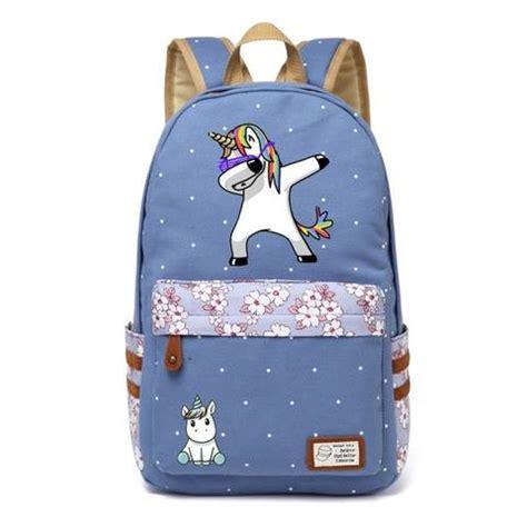 dabbing unicorn canvas backpack – 100 unicorns