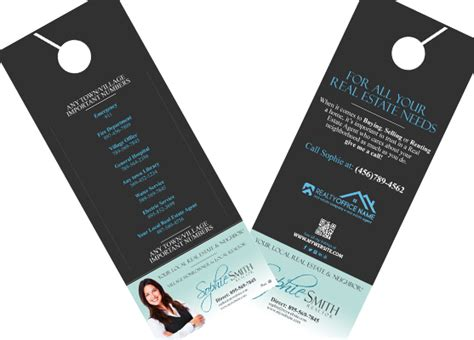 Real Estate Door Hangers Real Estate Agent Door Hangers Real Estate Door Hanger Templates