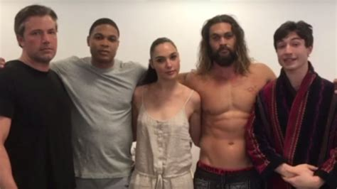 movie justice league cast justice league cast unites in video to combat real world