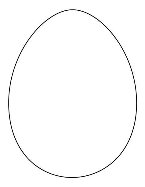 printable egg template printable page large egg pattern use the pattern for