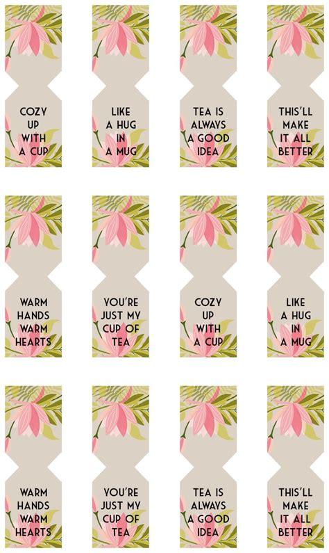 printable tea label floral free printable tea bag tags free printable teas